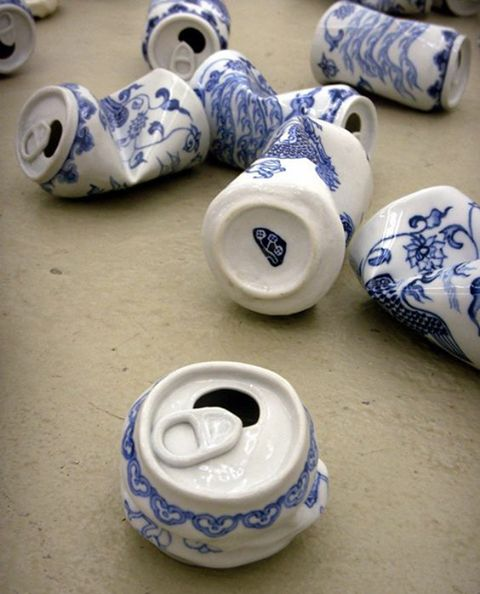 Can you believe that these are real cans but painted as the Chinese ceramics?
