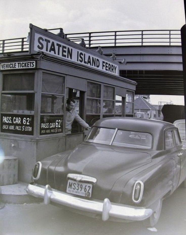 Staten Island Ferry, NYC - 1952.