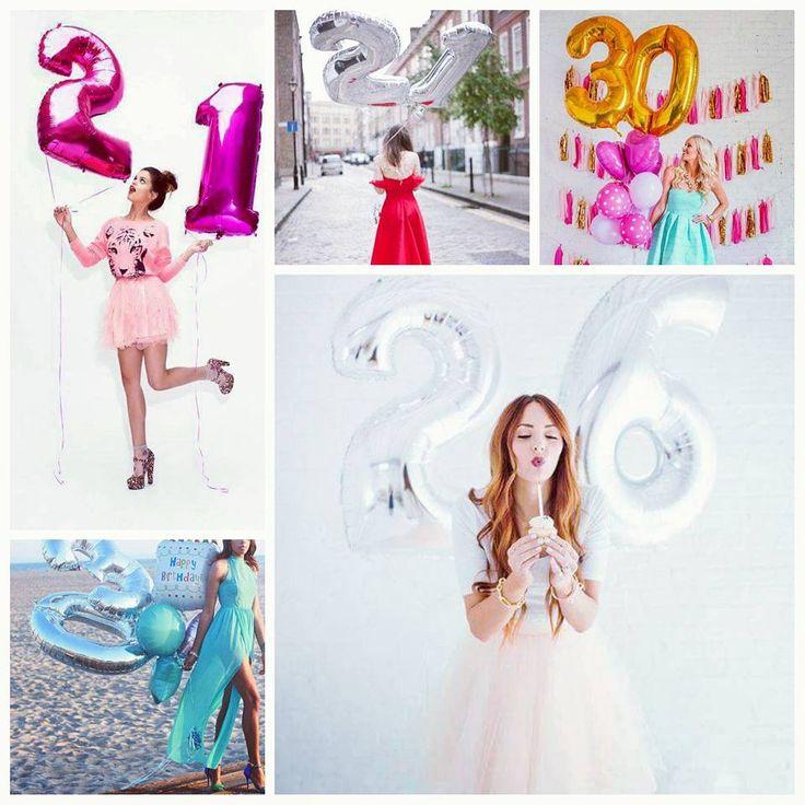 Que tal celebrar o seu aniversário com uma super sessão de fotos? :D Os balões metálicos em formato de números criam um efeito lindo e vão marcar de um jeito especial esta nova etapa da sua vida que está só começando. Encontre os balões metalizados na loja Aluá Festas:http://bit.do/BaloesNumericos