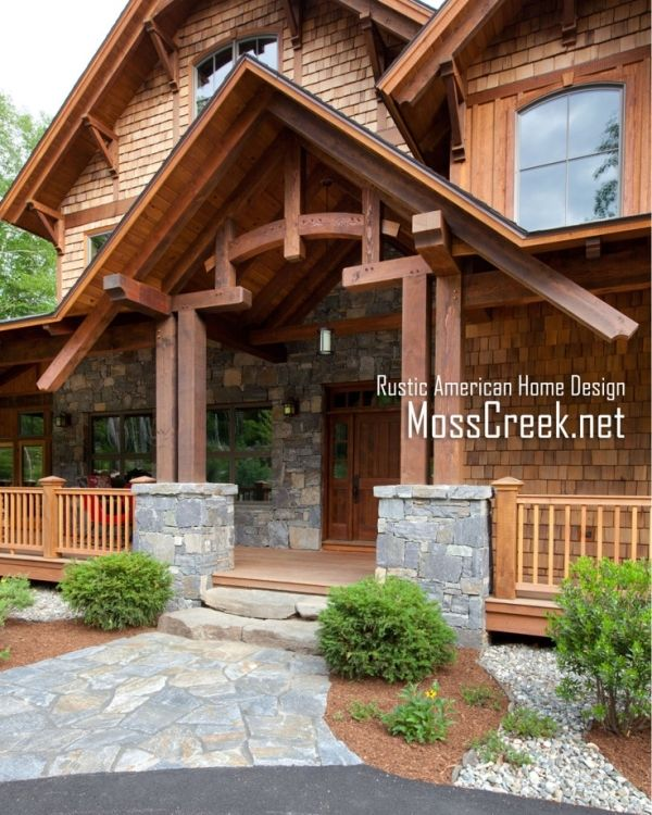 Timber Framed Home Designs: 35 Best Stone & Shingle Images On Pinterest