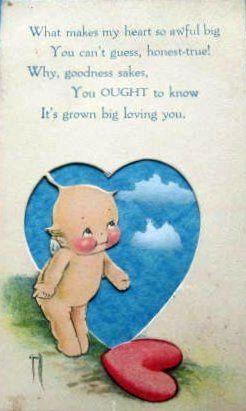 Vintage Kewpie Valentine Postcard by chicks57, via Flickr