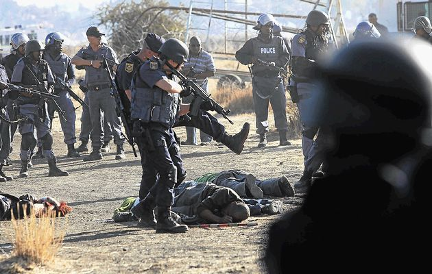 Marikana: A year on | Police open fire on striking mineworkers.