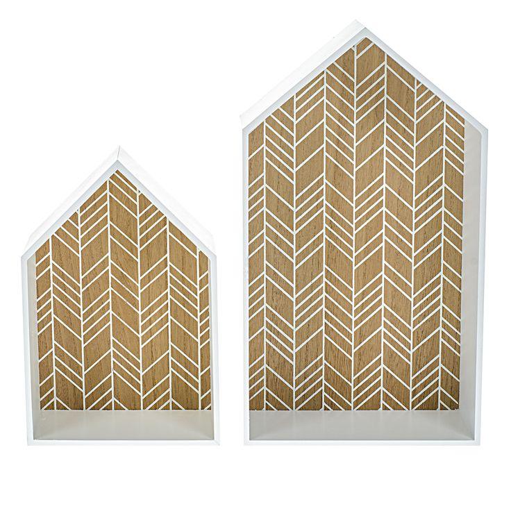 Geometric House Shelves Set