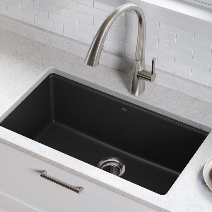 30 5 L X 17 W Undermount Kitchen Sink With Basket Strainer