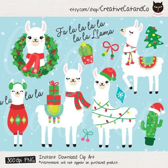 Christmas Holidays Clipart.Christmas Holiday Llama Clipart Clip Art Fa La La Llama