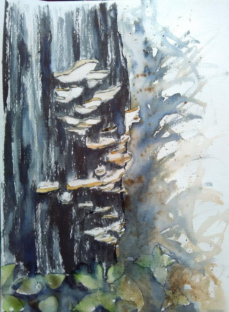 #Inktober Day8: crooked, or mushrooms in the woods #Inktober2017 #inktober_IRL #illustrations