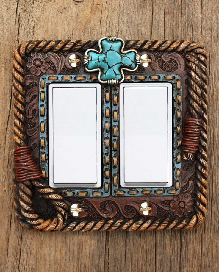cross double switch plate cover