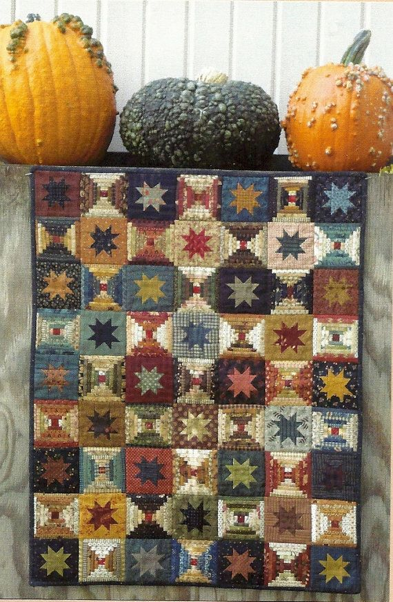 I like the colors and the two block quilt idea