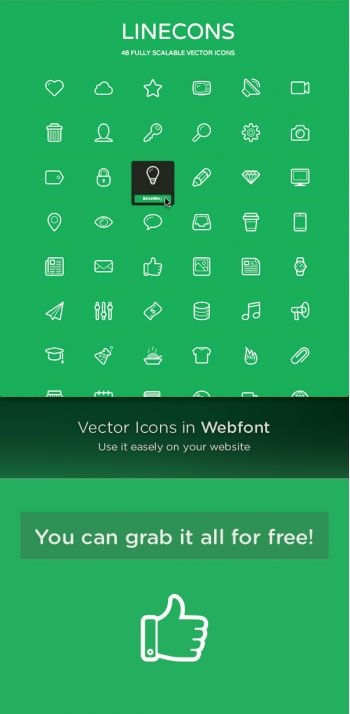 Linecons free – vector icons pack