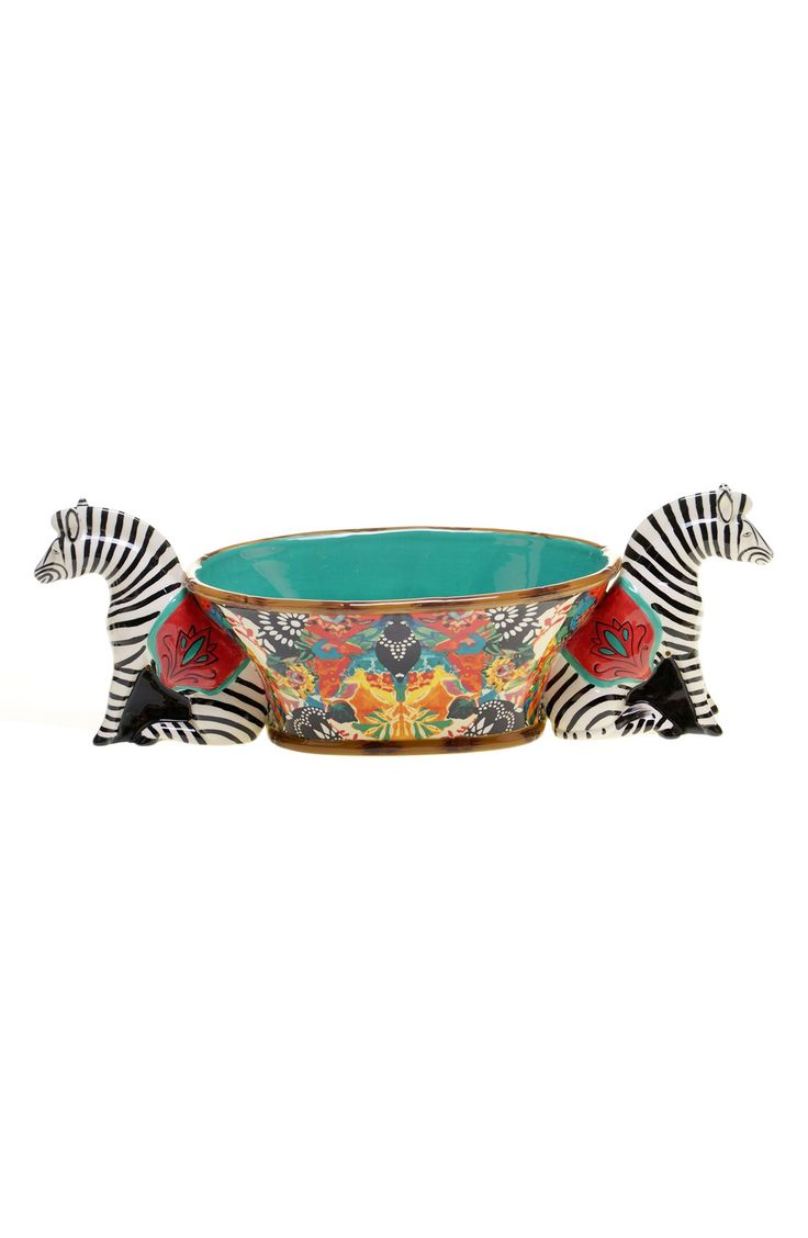 Tracy Porter® For Poetic Wanderlust® 'Magpie - 3D Zebra' Centerpiece Bowl