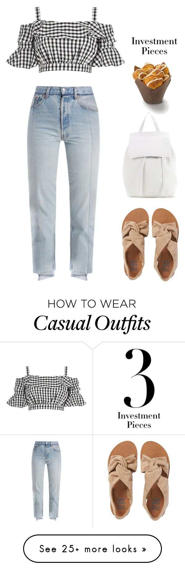 """""""Casual +summer"""" by stellaves on Polyvore featuring River Island, Vetements, Billabong, Mansur Gavriel, Summer and casualoutfit"""