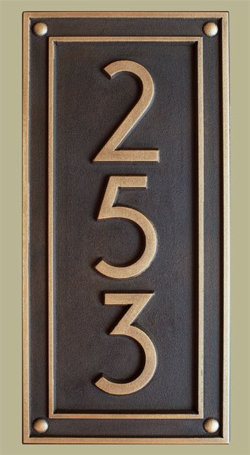 Modern Prairie Address Plaque for exterior