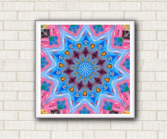Kaleidoscope printable art. Instant download di DreamingMandalas