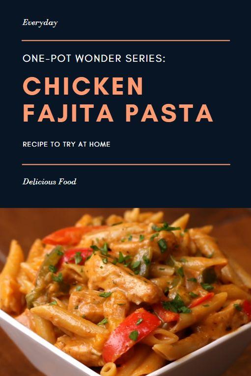Eintopf Hühnchen Fajita Pasta