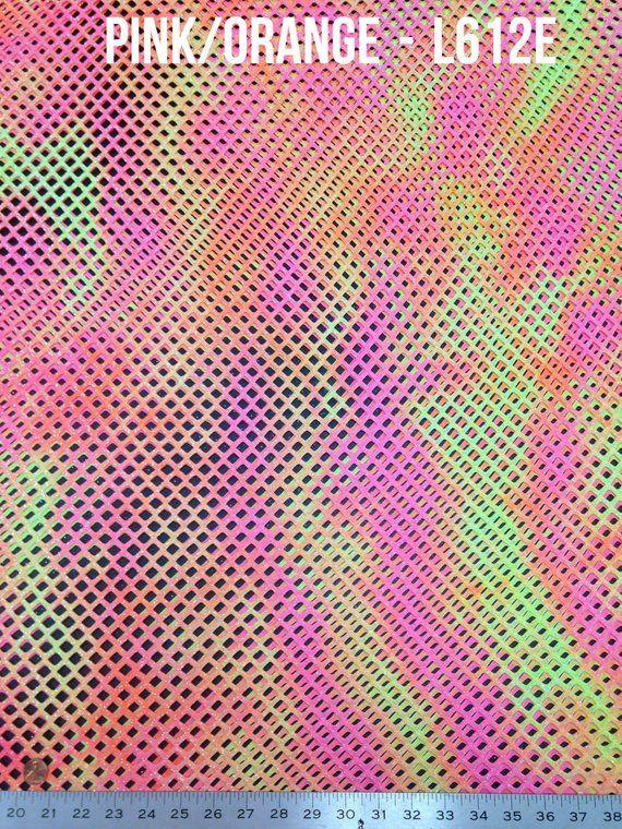 Big Hole Mesh Tie-dye Pattern w// Silver Glitter Stretch Polyester Spandex Fabric