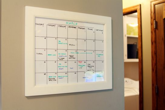 Functional and Pretty: Wedding Inspiration, Board Calendar, 48Reader, Frames Calendar, Kitchen, White Board, Calendar Idea, Jillians Board