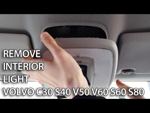 How to replace interior light bulbs in Volvo C30 S40 V50 V60 S60 S80 (tuning LED) - YouTube