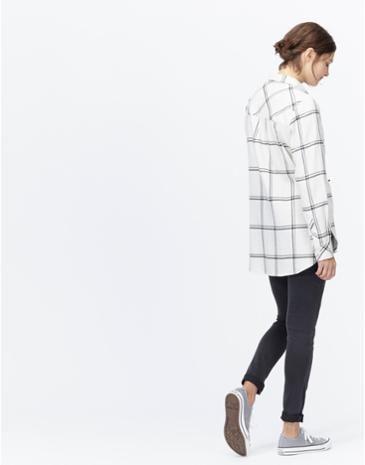 EASTLEYLong Line Check Shirt