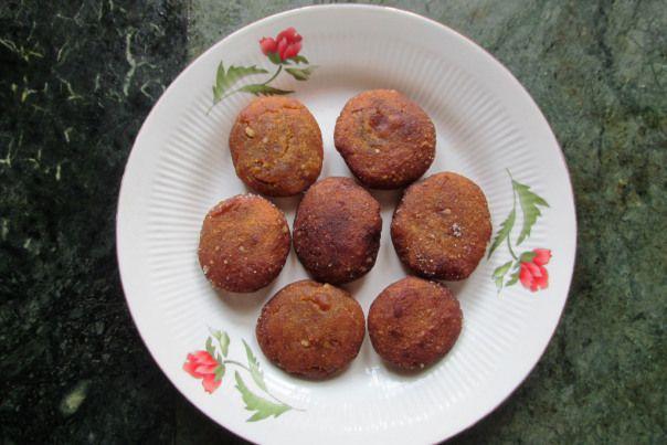 Lau palla pitha - pumpkin ricecake