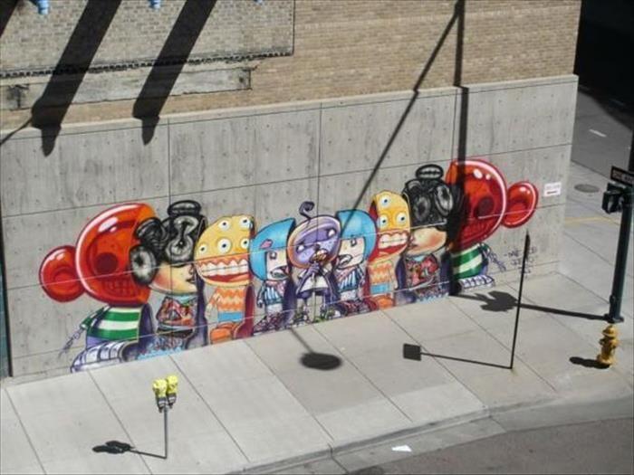 Best Sidewalk Art Images On Pinterest Random Pictures - Awesome mechanical shark mural phlegm