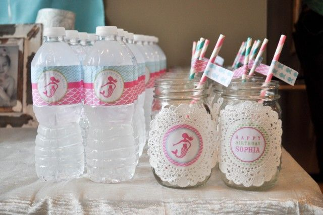 Mermaid-party-water-jar-labels