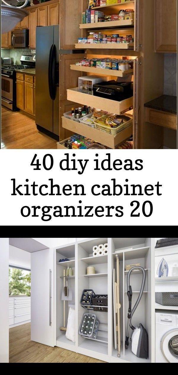 40 Diy Ideas Kitchen Cabinet Organizers 20 Cabinetorganizers 40 Diy Ideas Kitchen Cabinet Organizers 20 Durch Den Kuchenschrank In Die Speisekammer Kuche Und In 2020 Cabinets Organization Kitchen Cabinet Organization Kitchen Pantry Cabinets