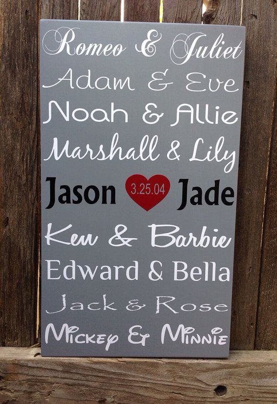 Hey, I found this really awesome Etsy listing at https://www.etsy.com/listing/184318552/famous-couples-wood-subway-sign-5-five