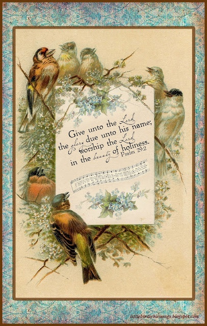 Little Birdie Blessings: Scripture Thursday ~ The Beauty of Holiness.  Psalm 29:2