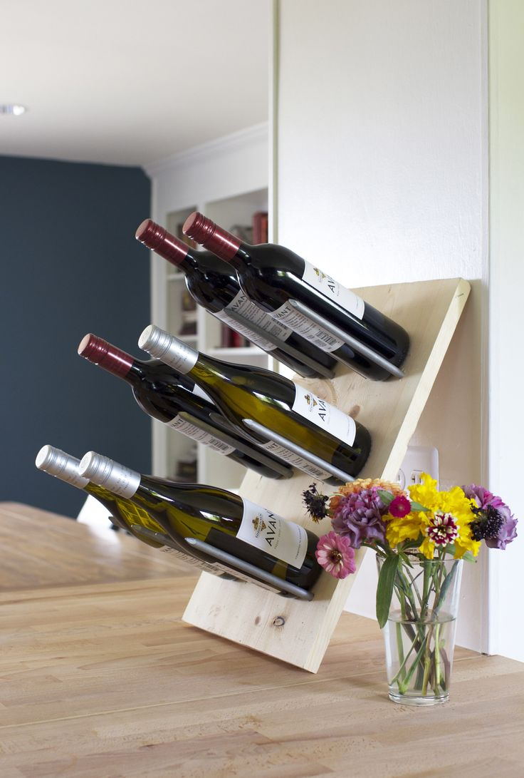 best  modern wine rack ideas on pinterest  wine rack  - a diy modern wine rack storage solution that doubles as decor
