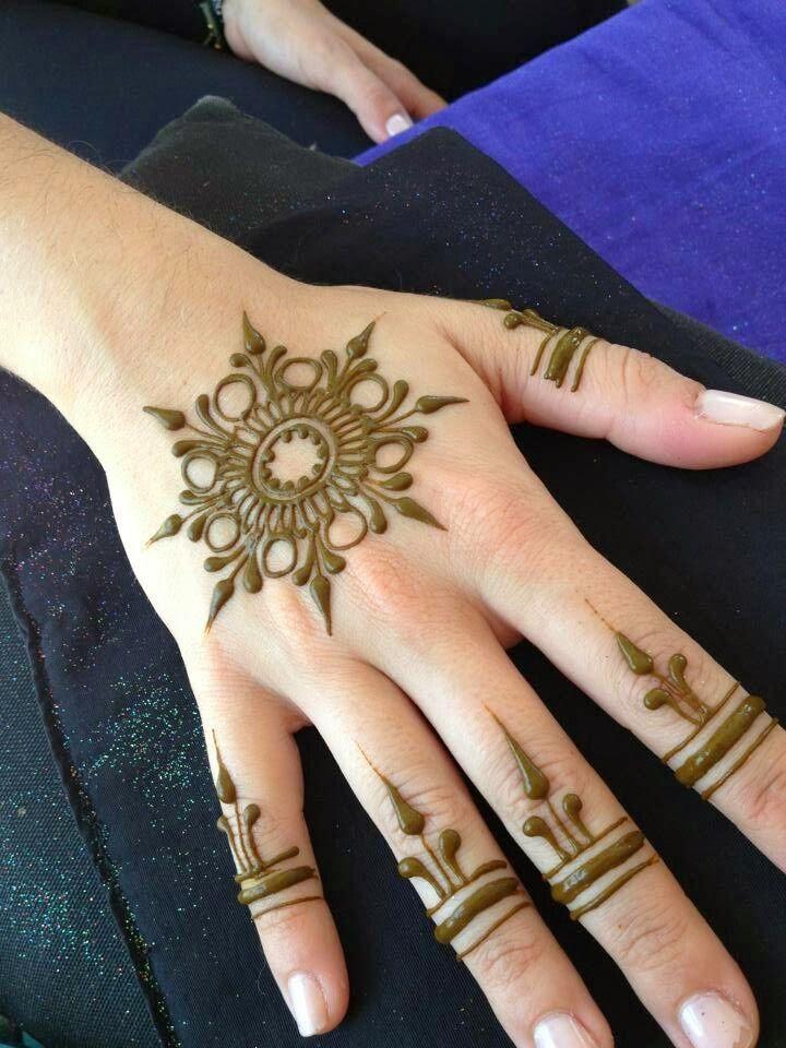 Floral Henna Design For Hand