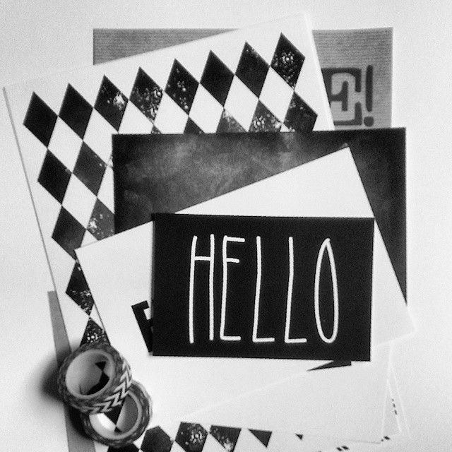 Tworzę ;) #poster #hello #blackandwhite #graphic #patternlove #letters