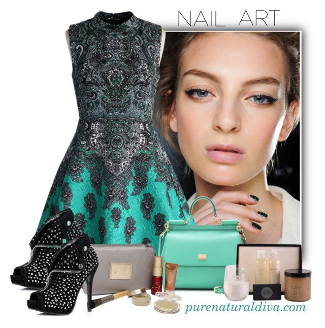 """""""Edgy Nail Art"""" by purenaturaldiva ❤ liked on Polyvore featuring beauty, Essie, Chicwish, Dolce&Gabbana, Jane Iredale, Ellie Shoes, naturalbeauty, organicbeauty, purenaturaldiva and edgynailart"""