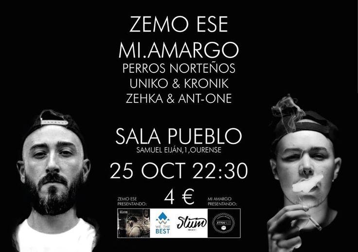 Rap/Hip-Hop: Zemo & Mi.amargo + artistas invitados en El Pueblo Café Cultural, Ourense music musica concerto concierto