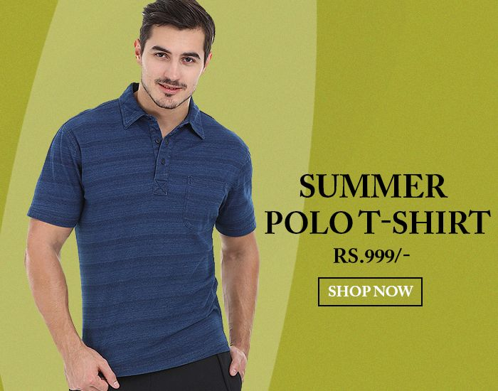 Find Latest Collection of Raw Indigo Polo T-Shirts for Men Online at Zobello