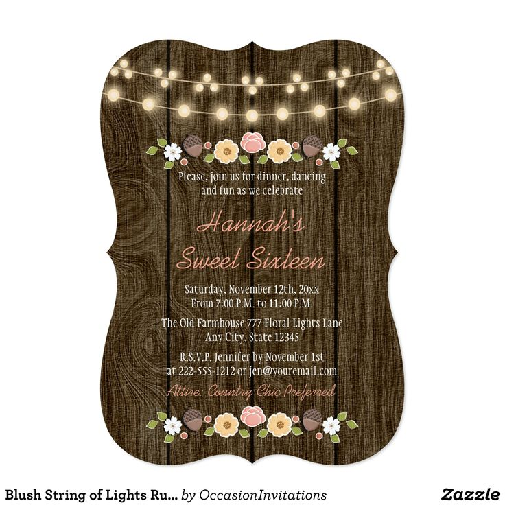 17 best Sweet 16 Invitations images on Pinterest | 16th birthday ...