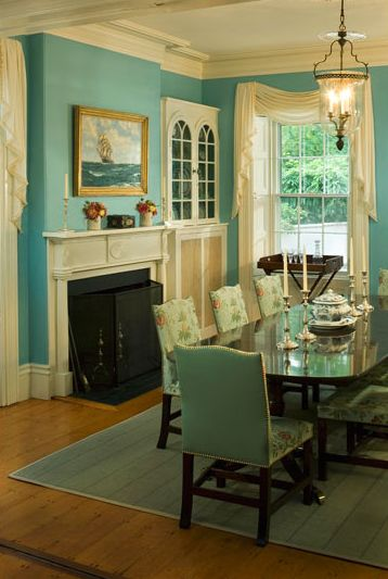 Dining Room. I love this color :)