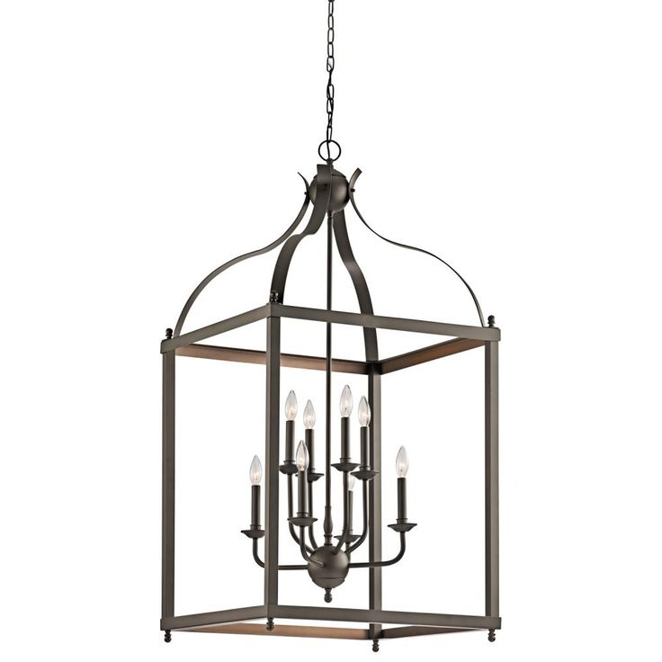 Product description this 8 light large foyer pendant cage from the larkin collection creates