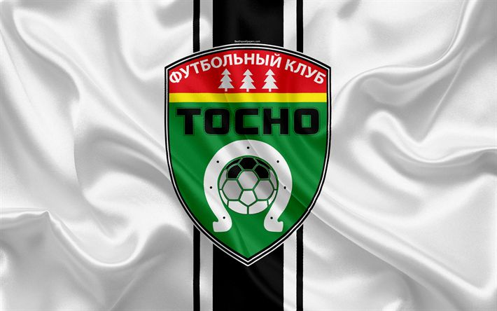 Download wallpapers FC Tosno, 4k, Russian football club, logo, emblem, Russian football championship, Premier League, football, Tosno, Russia, silk flag