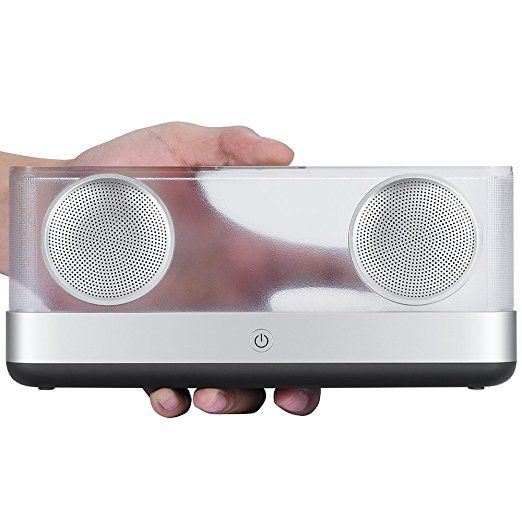Arisen WindBox Elegant Bluetooth 4.2 Portable Wireless Stereo Speaker, Transparent-Casing and Ultra-enhanced Stereo Sound and Bass - Black