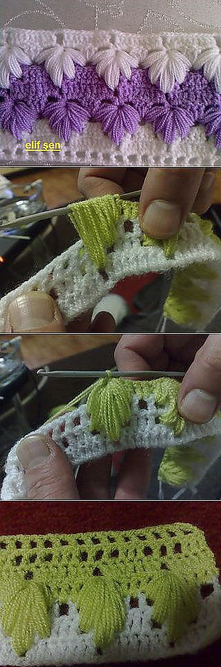 Crochet_tutorial -- a beautiful stitch in as much color as you can fit in…