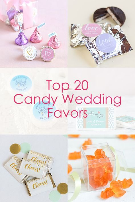 Find the best candy for your wedding favors! From personalized mints to cake pops, we've got you covered.
