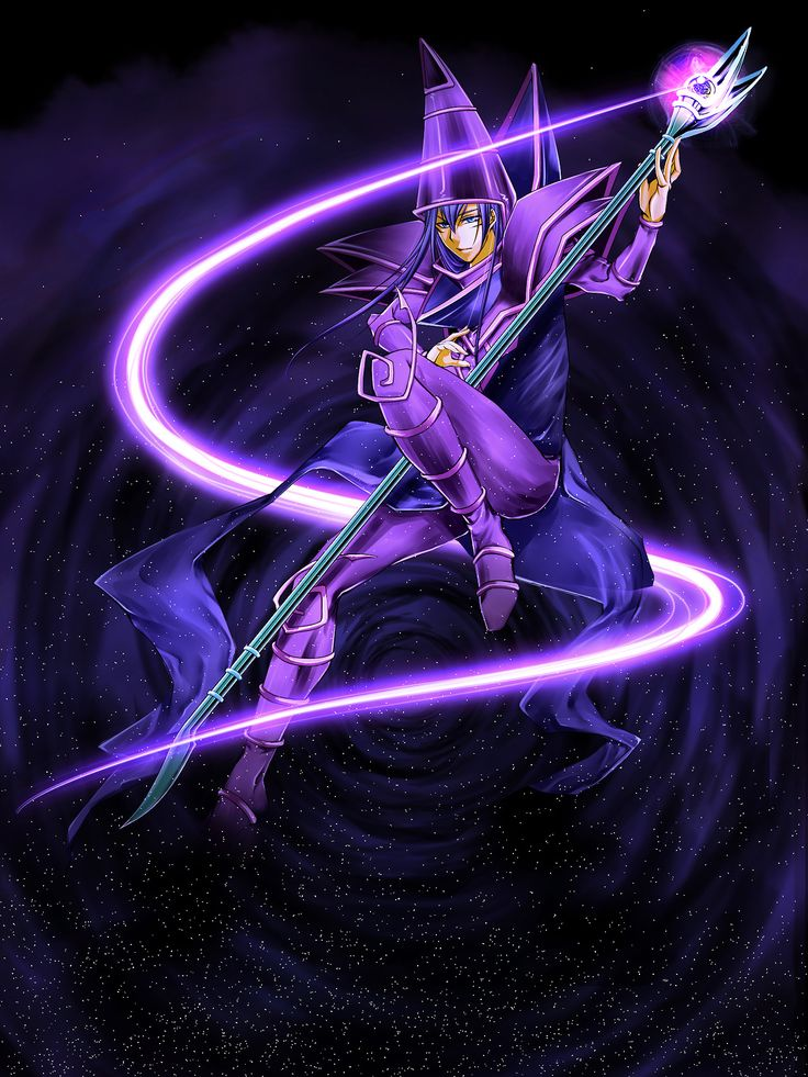 this is the coolest pic of the dark magician ever!