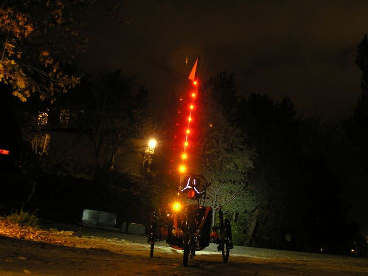 Light Up The Flagpole To Be Seen At Night Recumbent