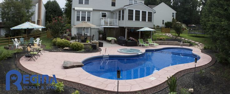 Mountain Lake Shaped Vinyl Liner Swimming Pool With Diving