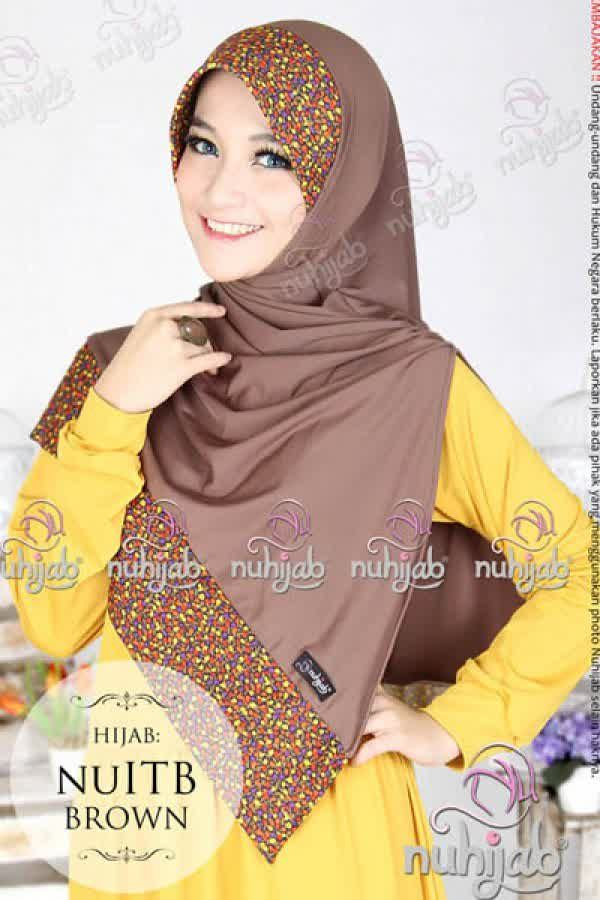 Nuhijab Nu Itb - Brown Rp. 95.000 Bahan: High Quality Spandex Jersey Polca Order sms/wa 082328384495