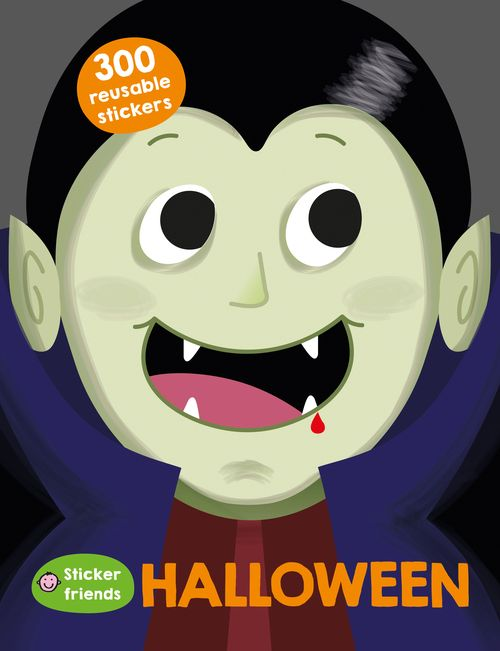 Halloween Sticker Friends Cover by Kitt Byrne  #illustration #childrens #childrensillustration #books #childrensbook #childrensbooks #cute #vector #bookcover #cover #halloween #vampire #spooky #costume