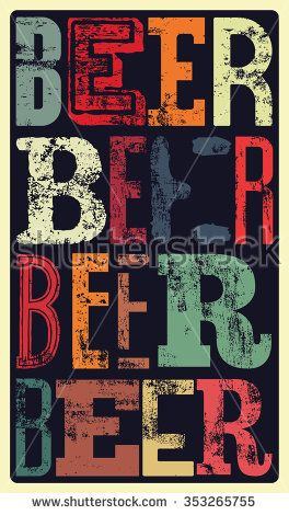 Typographical vintage style Beer poster design. Retro grunge vector…