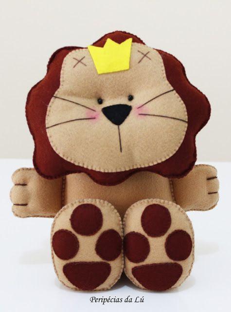 Peluche lion trop craquante