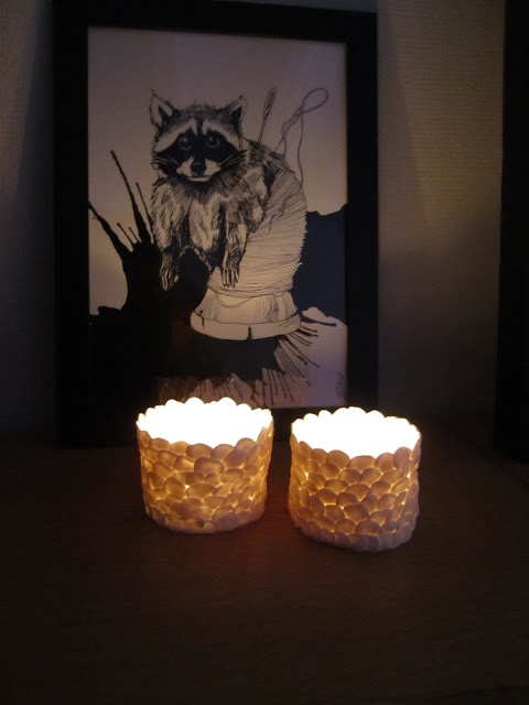 Savila, Candle holders made with FimoClay