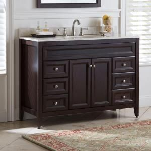 St. Paul, Brisbane 48.5 in. Vanity in Chocolate with Colorpoint Vanity Top in Maui, BB48P2COM-CH at The Home Depot - Mobile